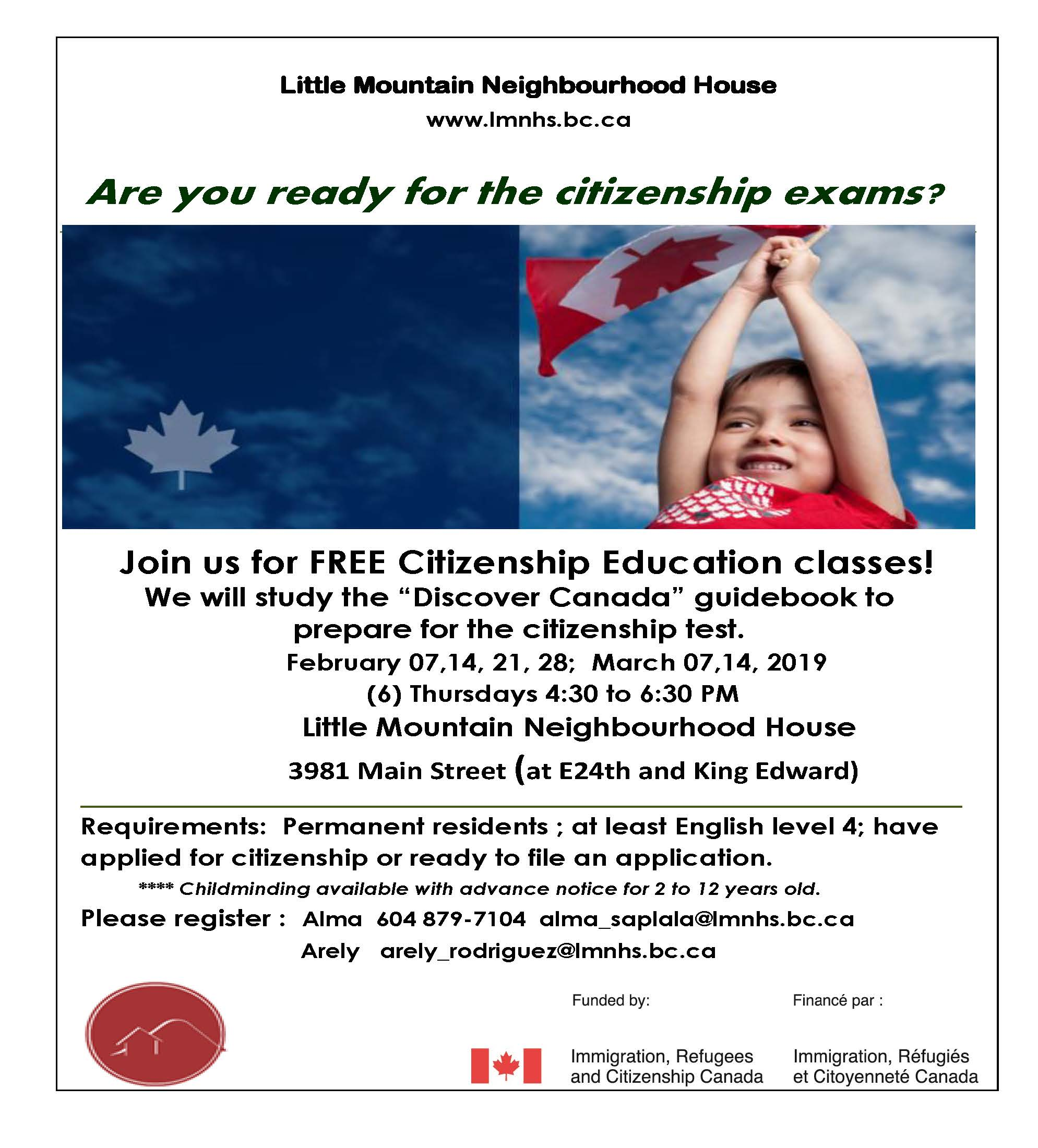 2019 Feb March Citizenship Classes