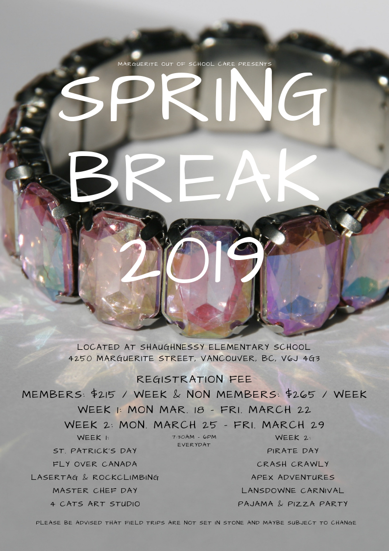 Spring Break Camp 2019 Flyer