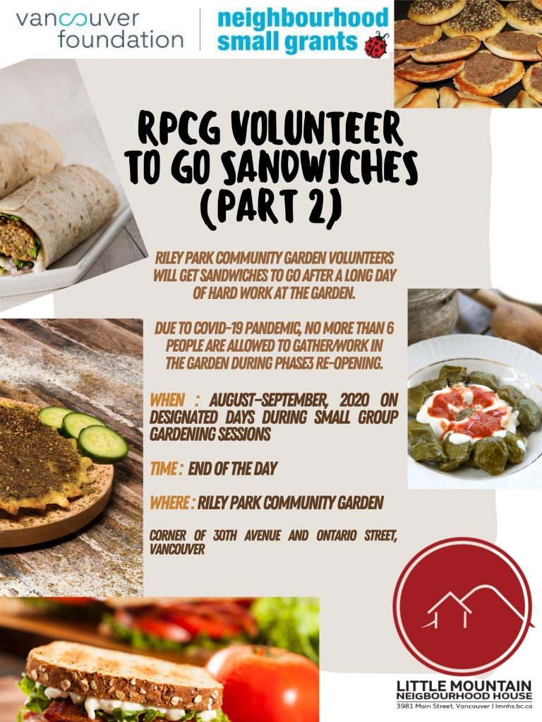 RPCG Volunteer To Go Sandwiches