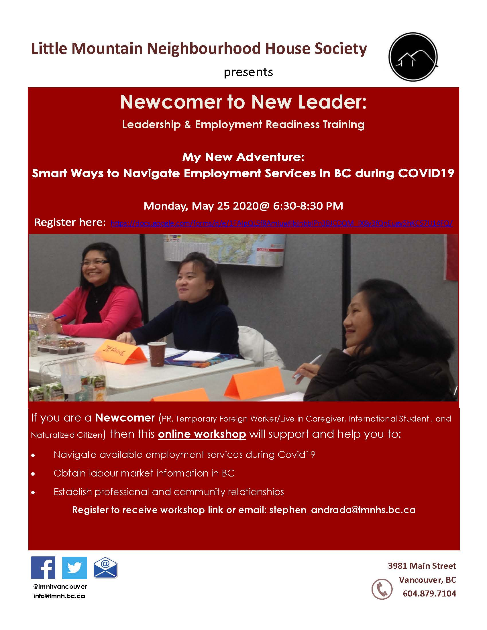 New Comers to New Leaders Poster