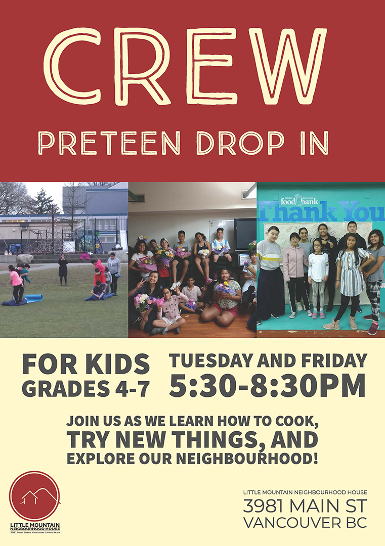 CREW Preteen Drop In