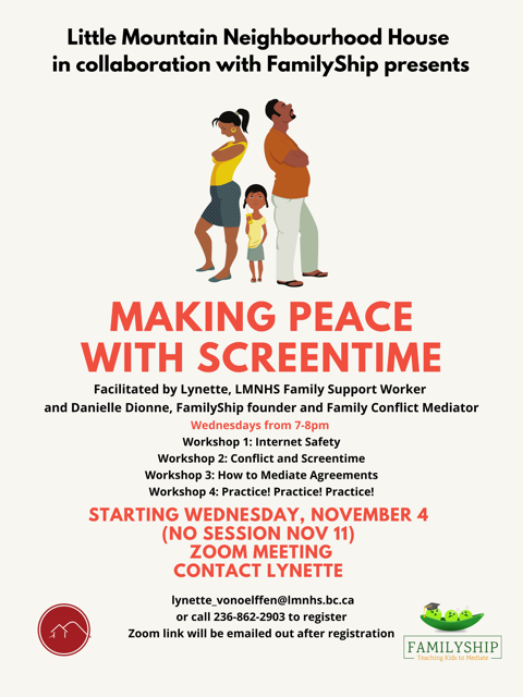 Making peace with screentime poster