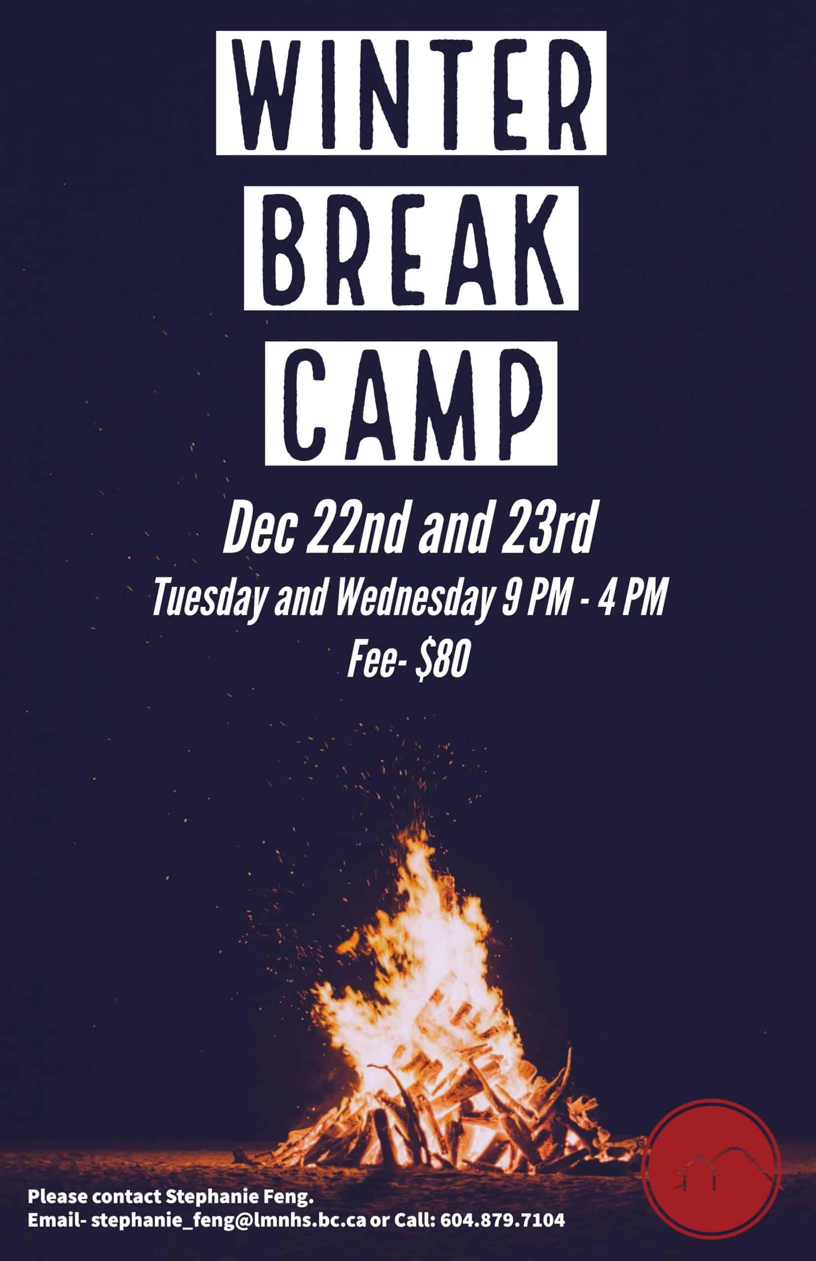 Poster Winter Break Camp