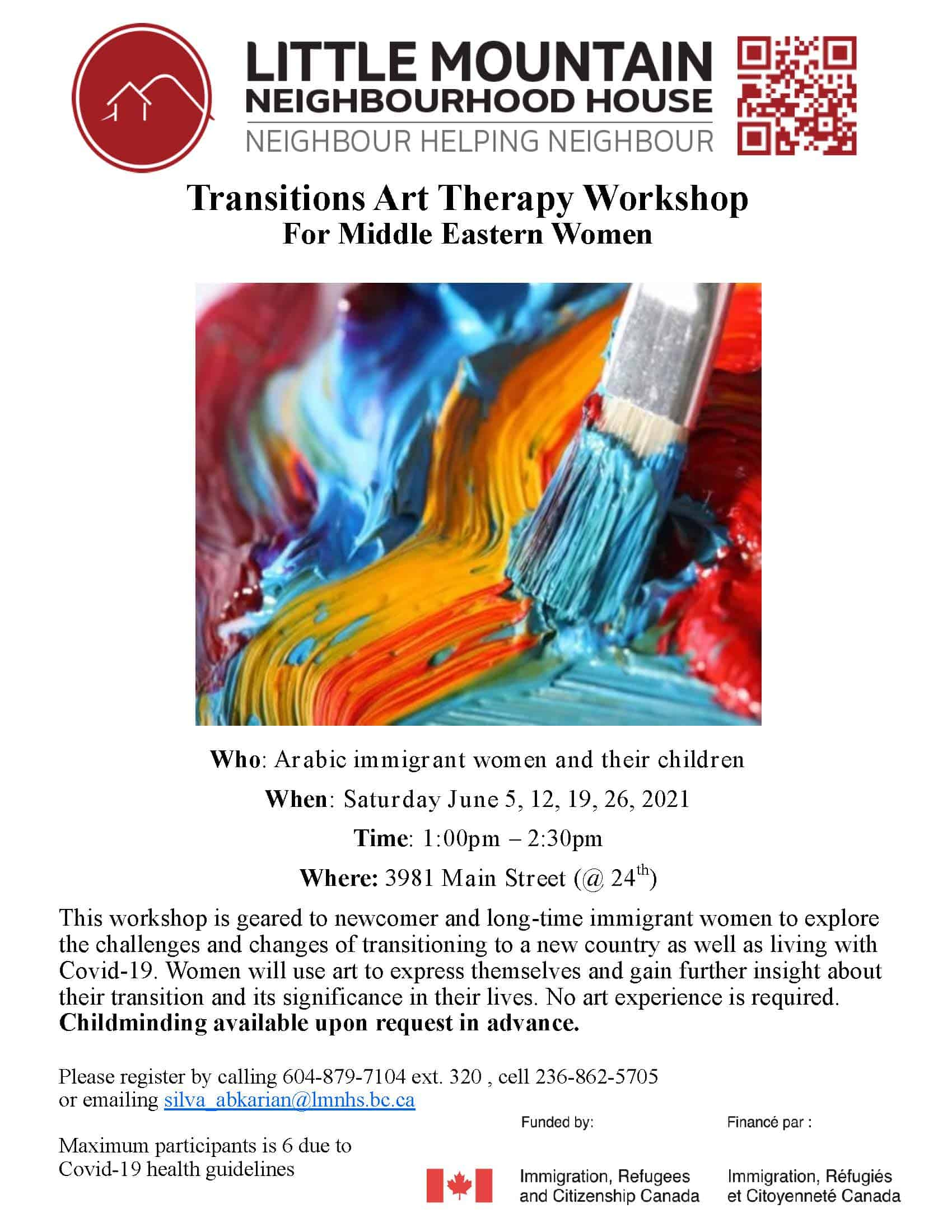Transitions art therapy 2021